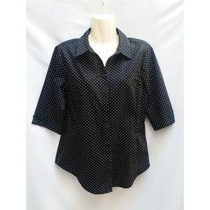 Grand & Greene Black w/White Polka Dot Shirt L